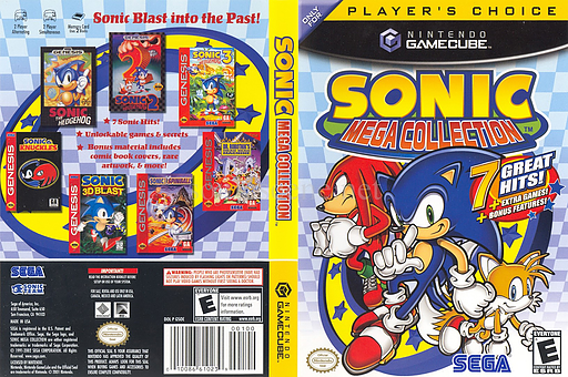 Sonic Mega Collection GameCube cover (GSOE8P)