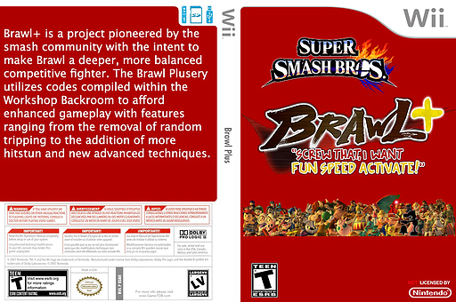 Super Smash Bros. Brawl Plus CUSTOM cover (RSBEBP)