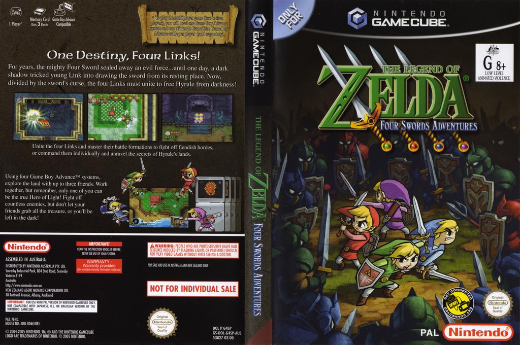 The Legend of Zelda: Four Swords Adventures Wii coverfullHQ (G4SP01)