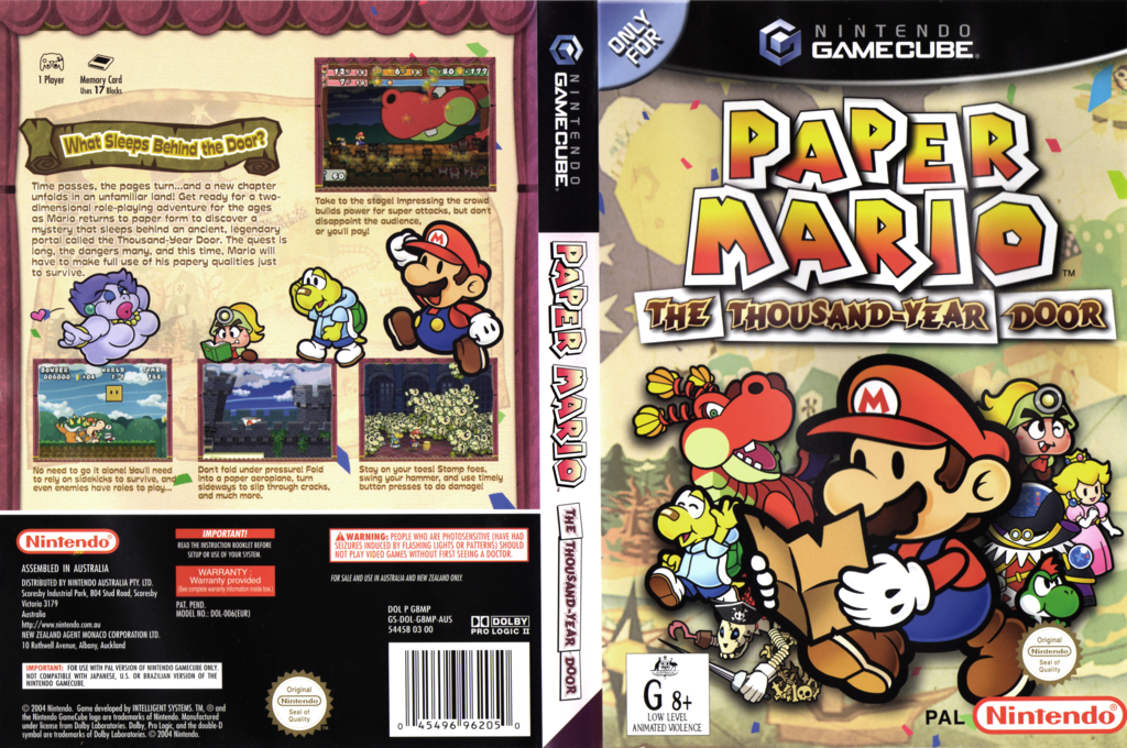 Paper Mario: The Thousand-Year Door Wii coverfullHQ (G8MP01)