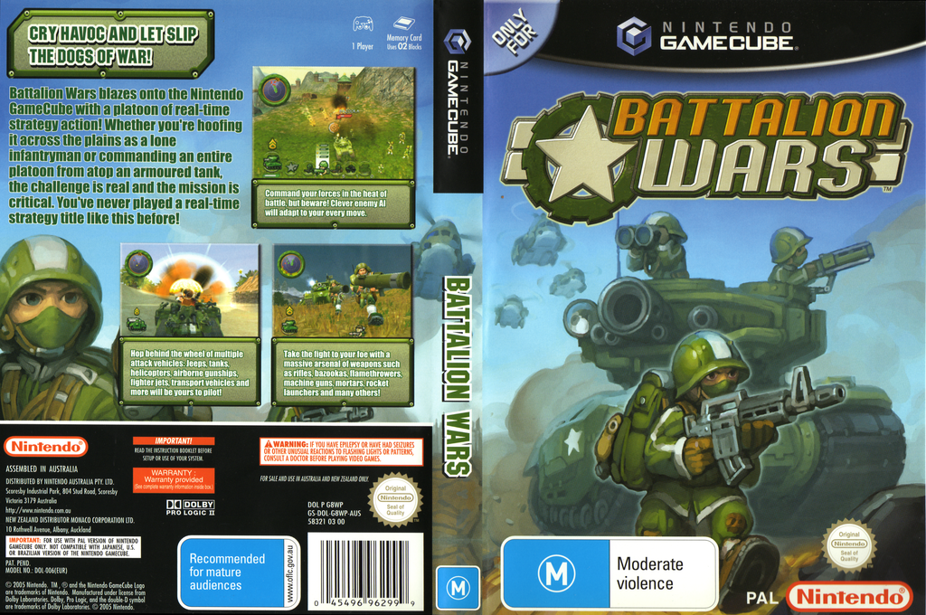 Battalion Wars Wii coverfullHQ (G8WP01)