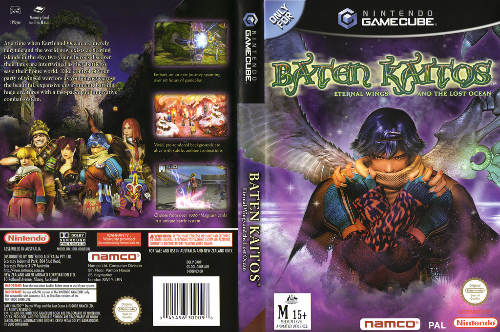 Baten Kaitos:Eternal Wings and the Lost Ocean Wii coverfullHQ (GKBPAF)