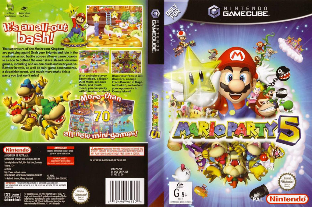 Mario Party 5 Wii coverfullHQ (GP5P01)
