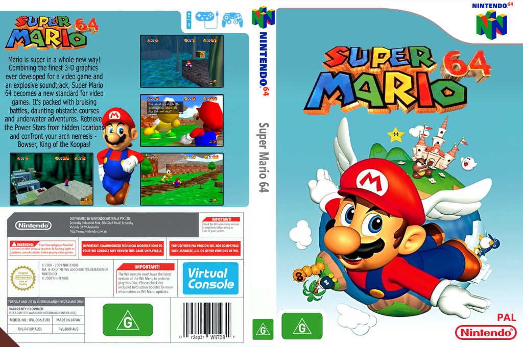 Super Mario 64 Wii coverfullHQ (NAAP)