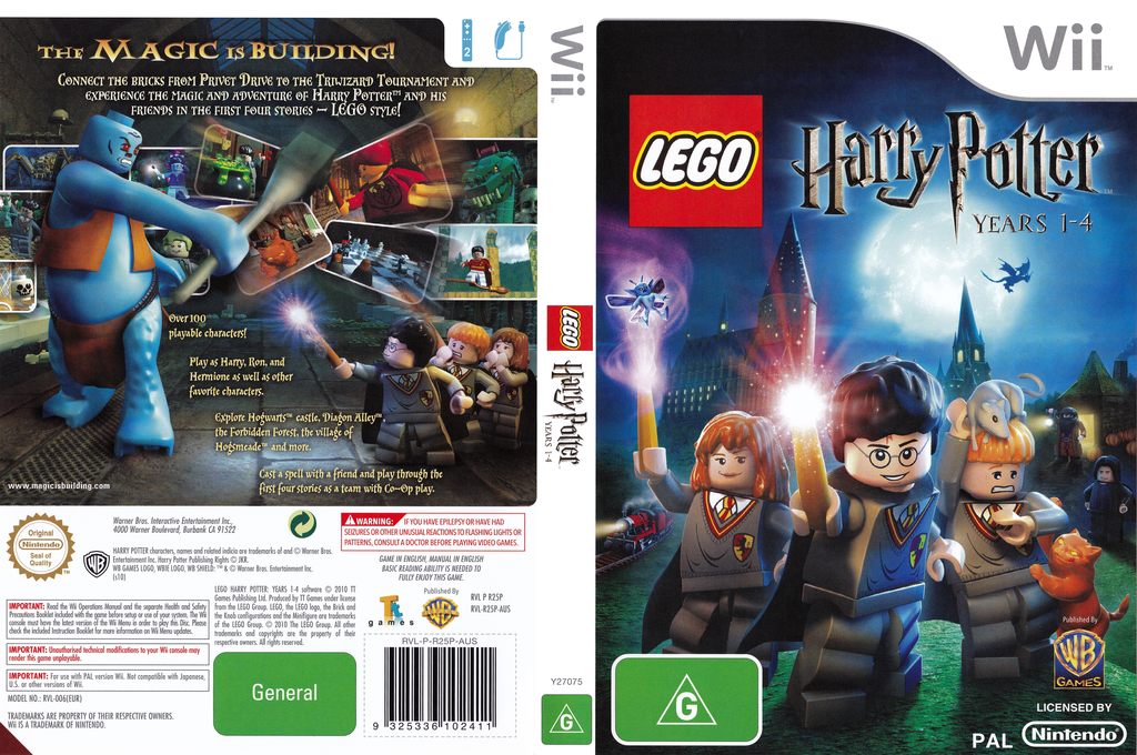 LEGO Harry Potter: Years 1-4 Wii coverfullHQ (R25PWR)