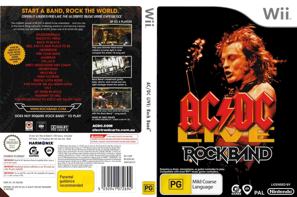 AC/DC Live: Rock Band Song Pack Wii coverfullHQ (R33P69)