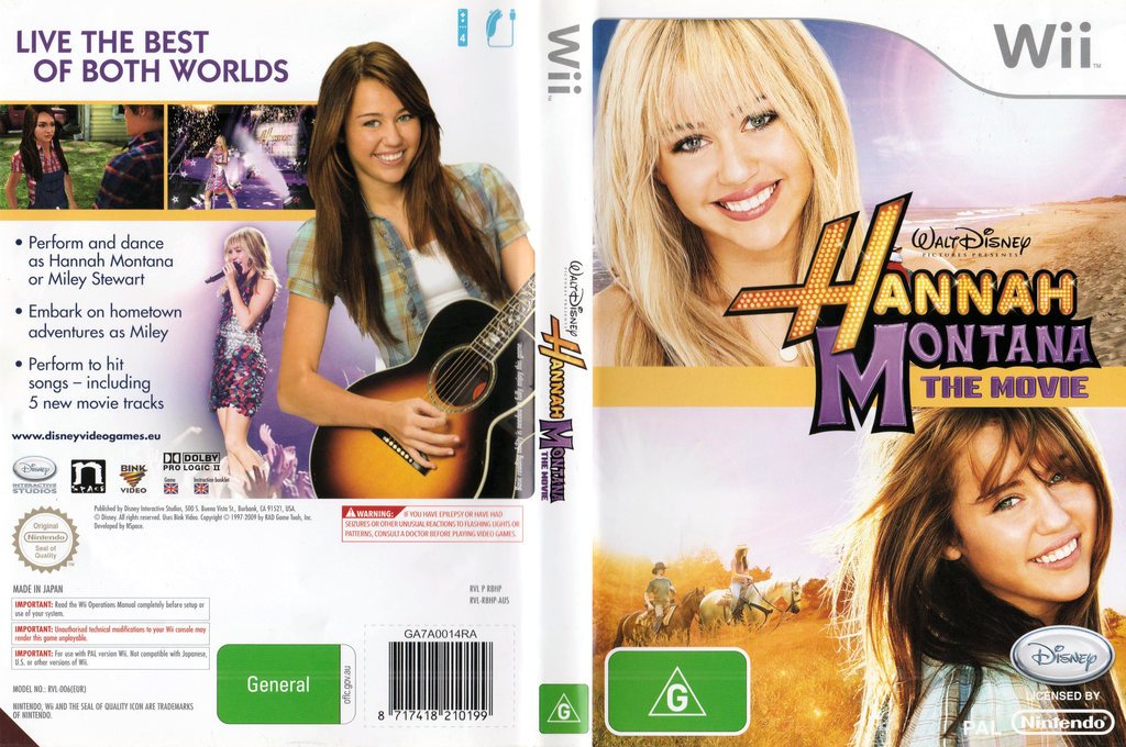Hannah Montana: The Movie Wii coverfullHQ (R8HP4Q)