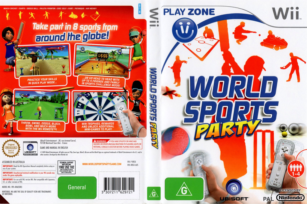 World Sports Party Wii coverfullHQ (R8SP41)