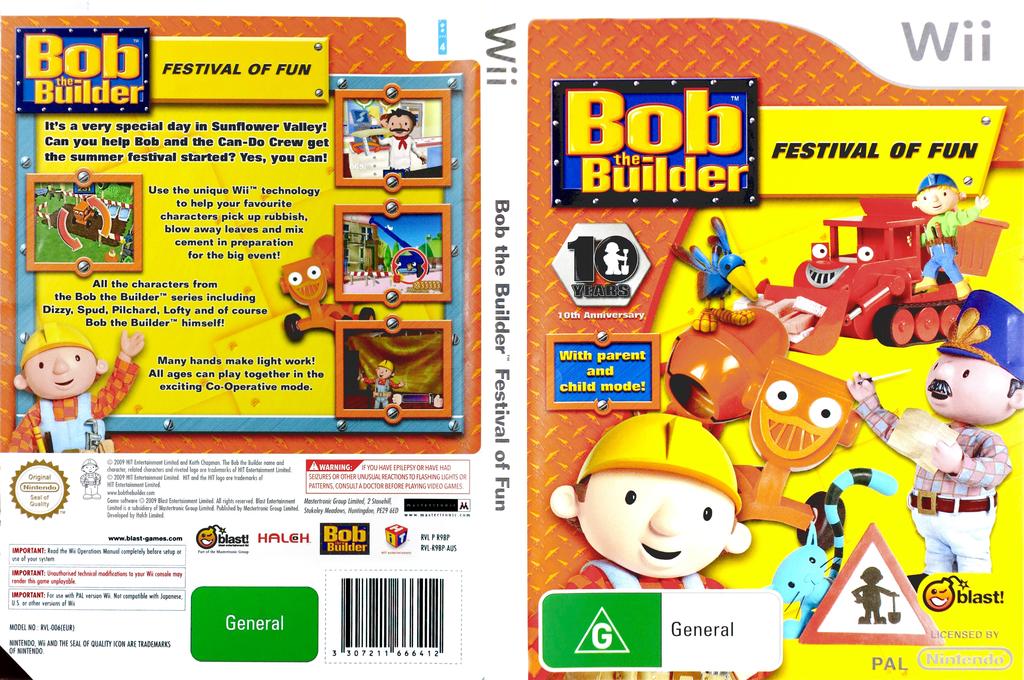 Bob the Builder: Festival of Fun Wii coverfullHQ (R9BPMT)