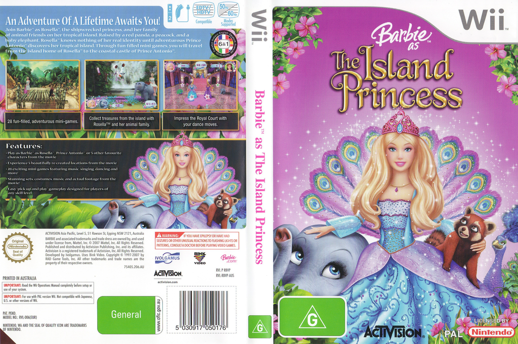 Barbie as The Island Princess Wii coverfullHQ (RBVP52)