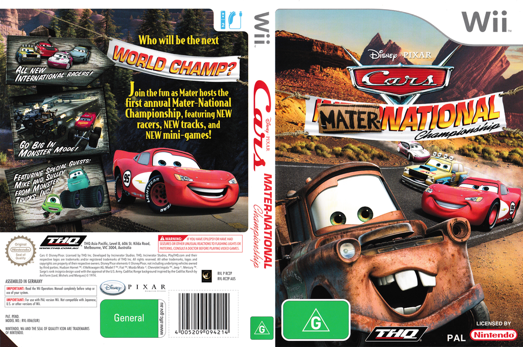 Cars: Mater-National Championship Wii coverfullHQ (RC2P78)