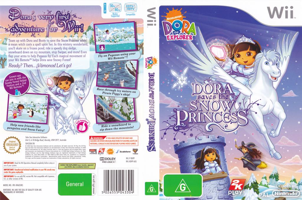 Dora Saves the Snow Princess Wii coverfullHQ (RDPP54)