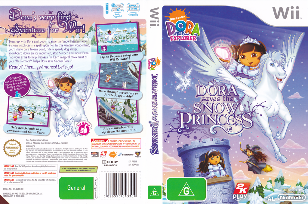 Dora Saves the Snow Princess Wii coverfullHQ (RDPX54)