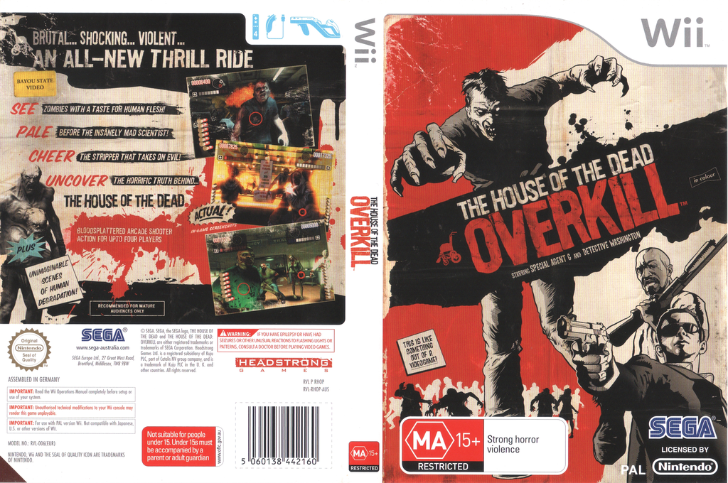 The House of the Dead: Overkill Wii coverfullHQ (RHOP8P)
