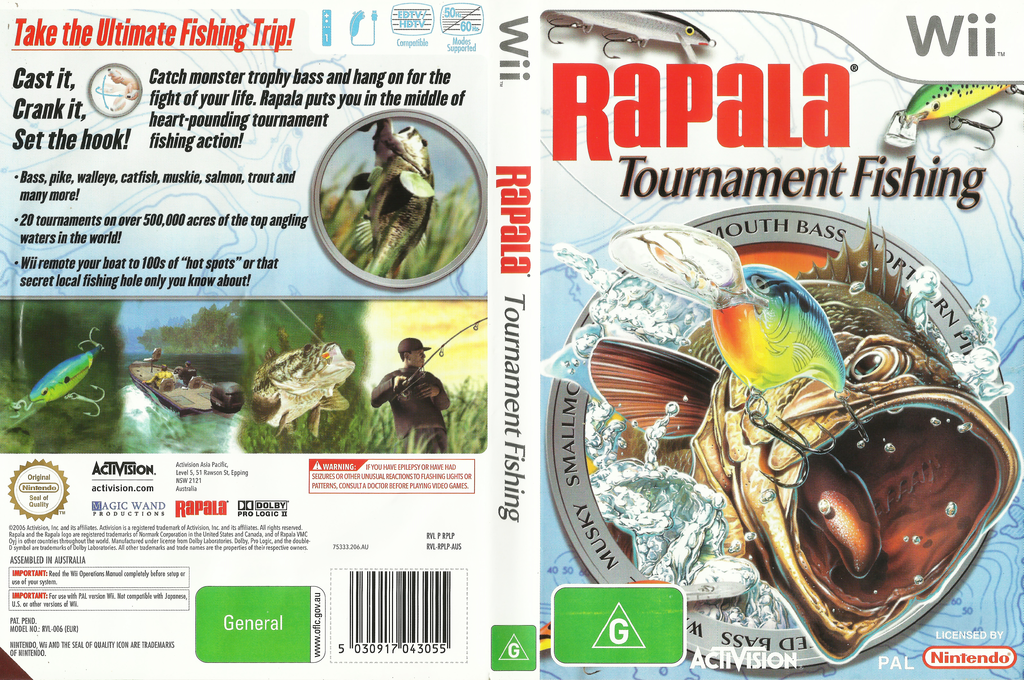 Rapala Tournament Fishing Wii coverfullHQ (RPLP52)