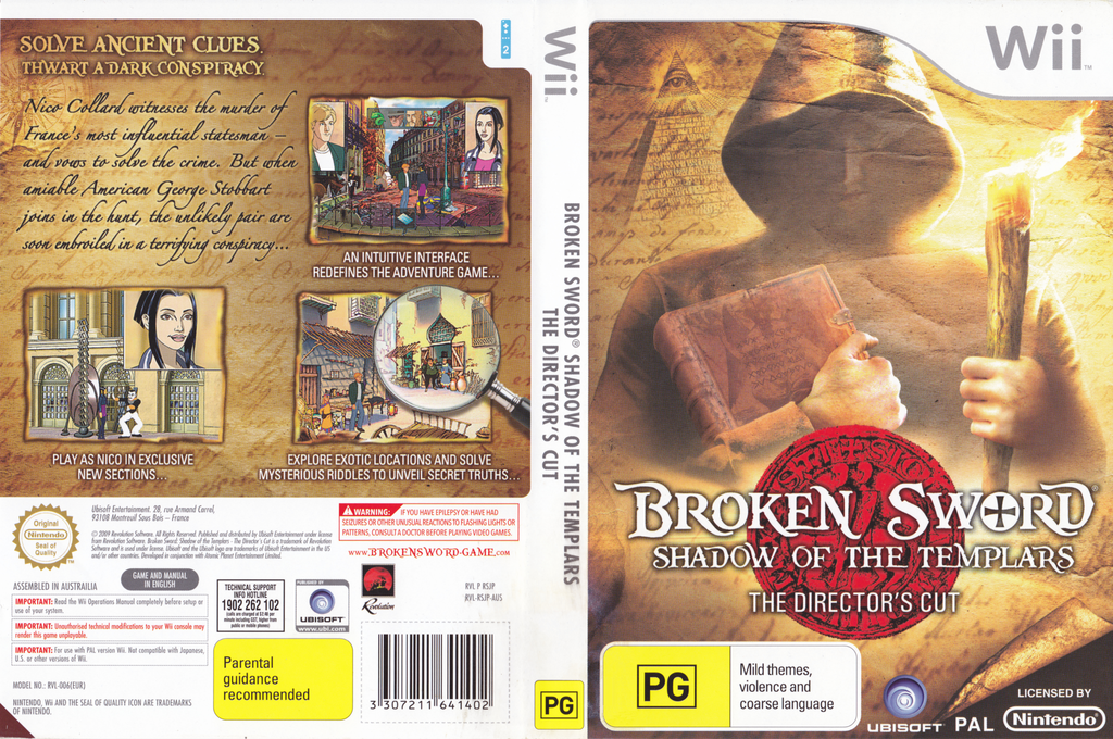 Broken Sword: Shadow of the Templars - The Director's Cut Wii coverfullHQ (RSJP41)