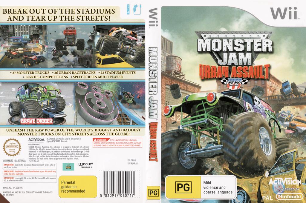 Monster Jam: Urban Assault Wii coverfullHQ (RUAP52)