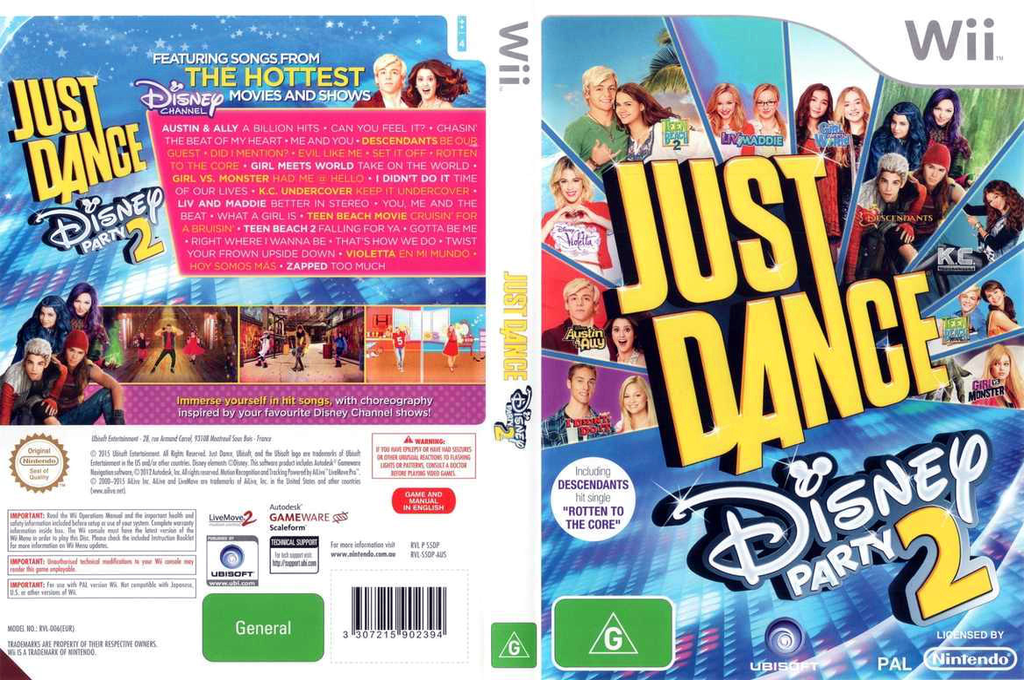 Just Dance Disney Party 2 Wii coverfullHQ (S5DP41)