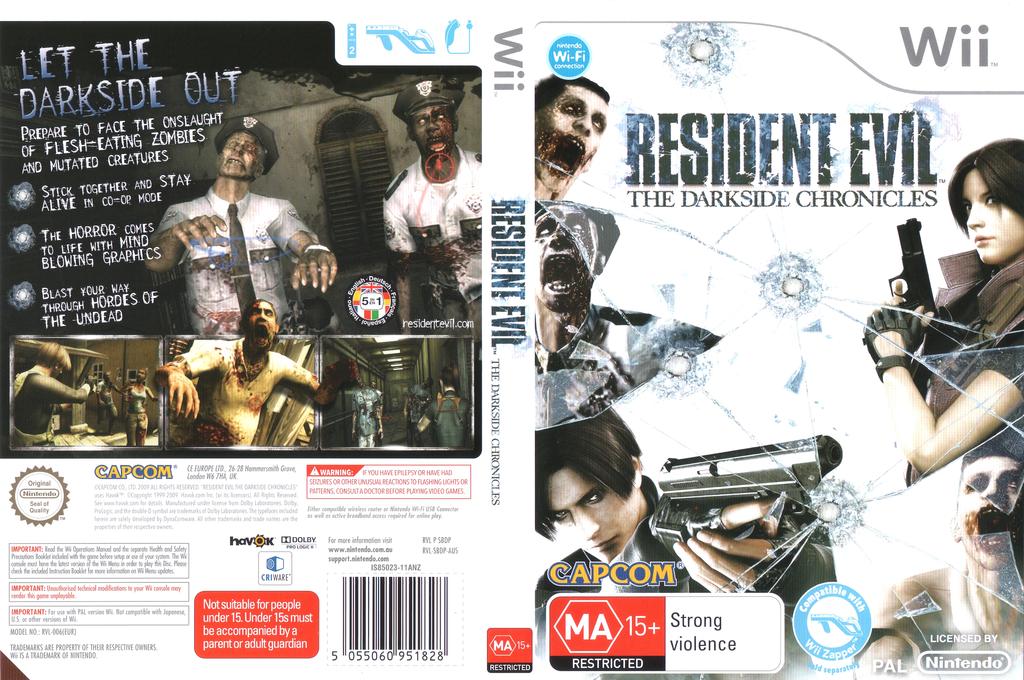 Resident Evil: The Darkside Chronicles Wii coverfullHQ (SBDP08)