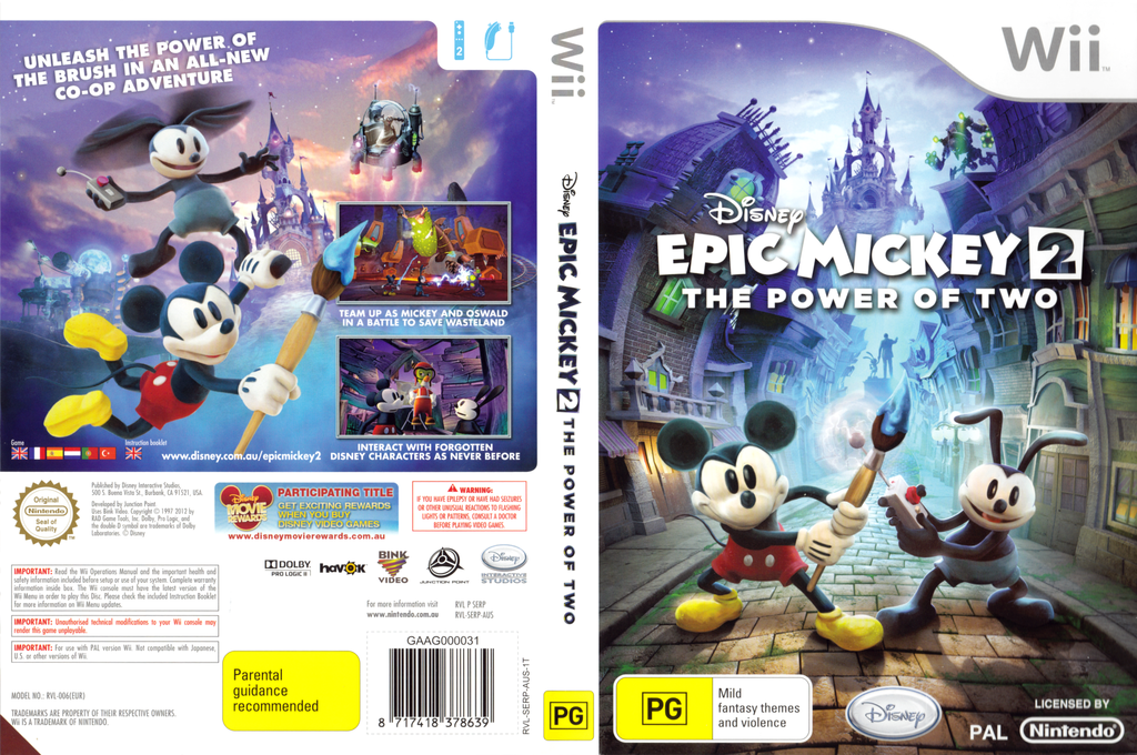 Disney Epic Mickey 2: The Power of Two Wii coverfullHQ (SERP4Q)