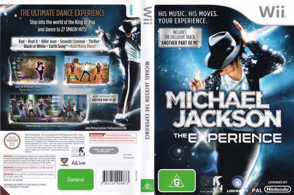 Michael Jackson: The Experience - Special Edition Wii coverfullHQ (SMOY41)