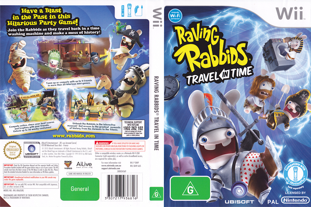 Raving Rabbids:Travel in Time Wii coverfullHQ (SR4P41)