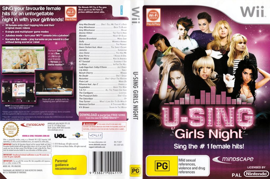 U-Sing Girls Night Wii coverfullHQ (SUSPMR)