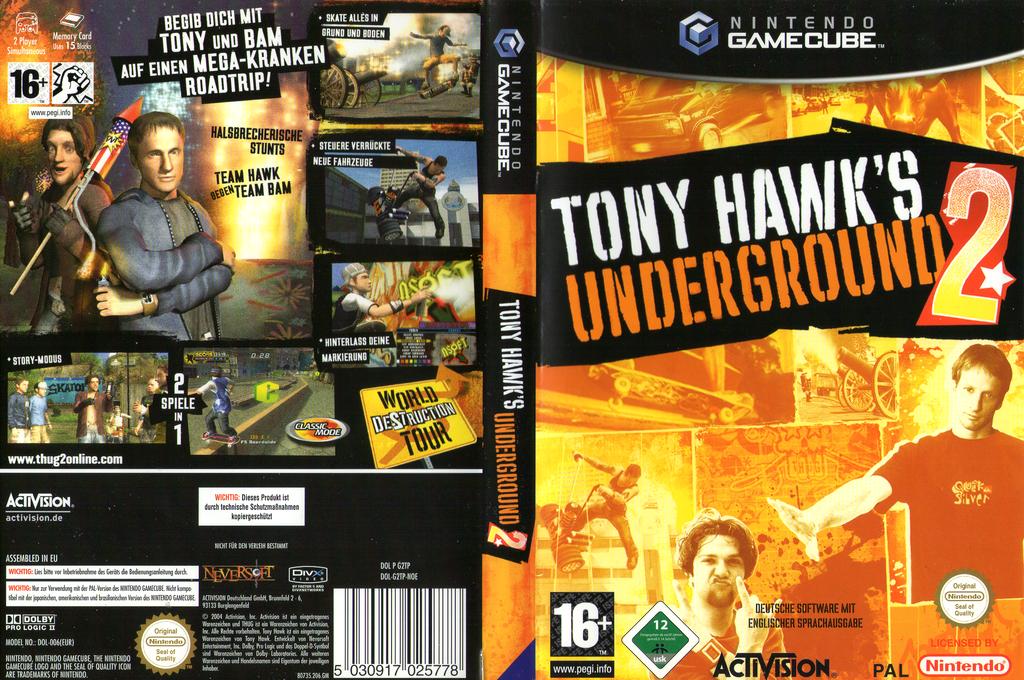 Tony Hawk's Underground 2 Wii coverfullHQ (G2TP52)