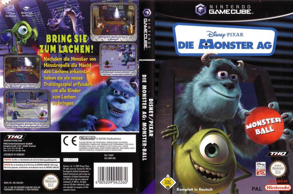 Die Monster AG : Monster Ball Wii coverfullHQ (GMNP78)