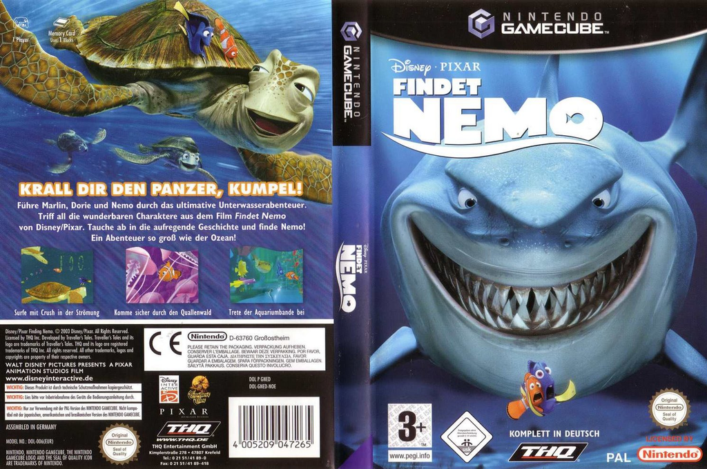 Findet Nemo Wii coverfullHQ (GNED78)