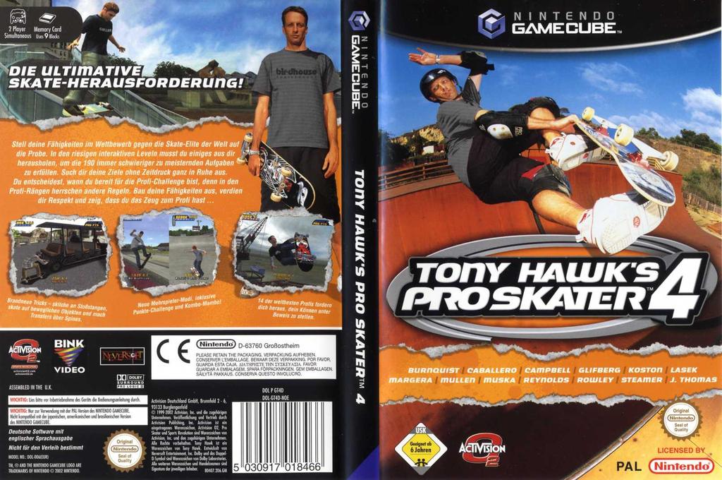 Tony Hawk's Pro Skater 4 Wii coverfullHQ (GT4D52)