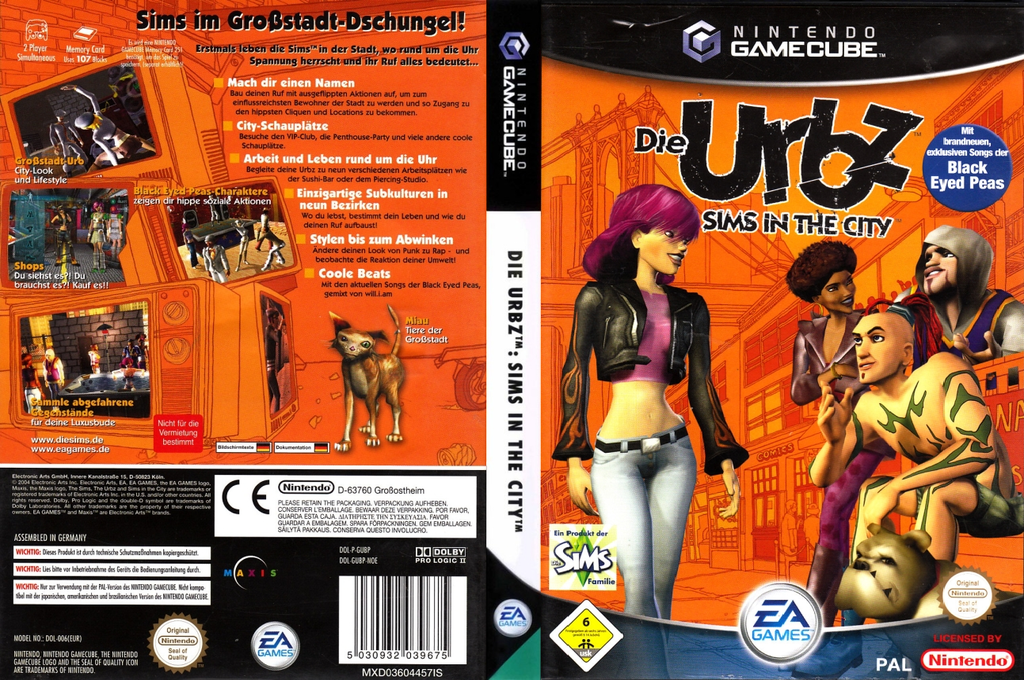 Die Urbz: Sims in the City Wii coverfullHQ (GUBP69)