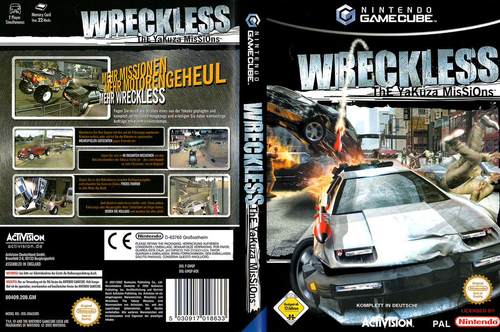 Wreckless: The Yakuza Missions Wii coverfullHQ (GWQP52)