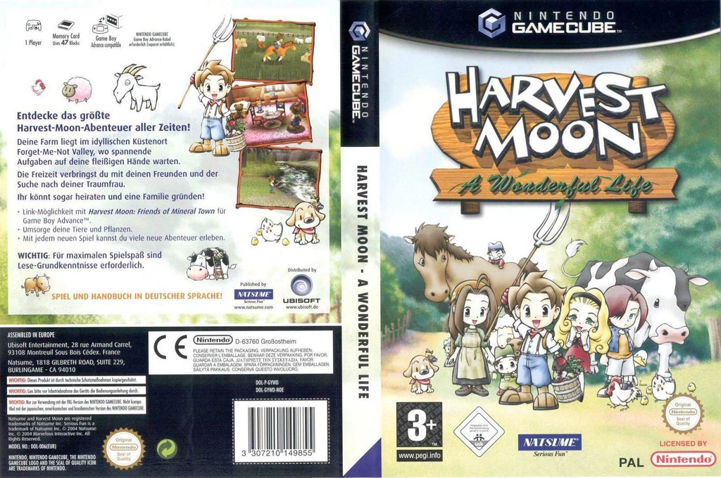 Harvest Moon: A Wonderful Life Wii coverfullHQ (GYWDE9)