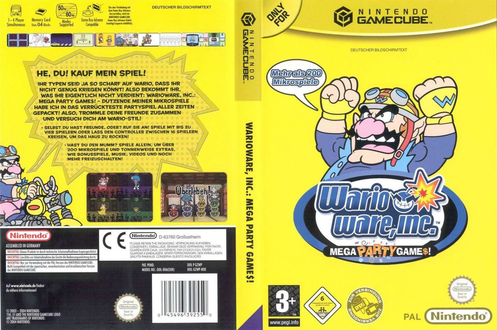 Wario Ware Inc.: Mega Party Game$! Wii coverfullHQ (GZWP01)