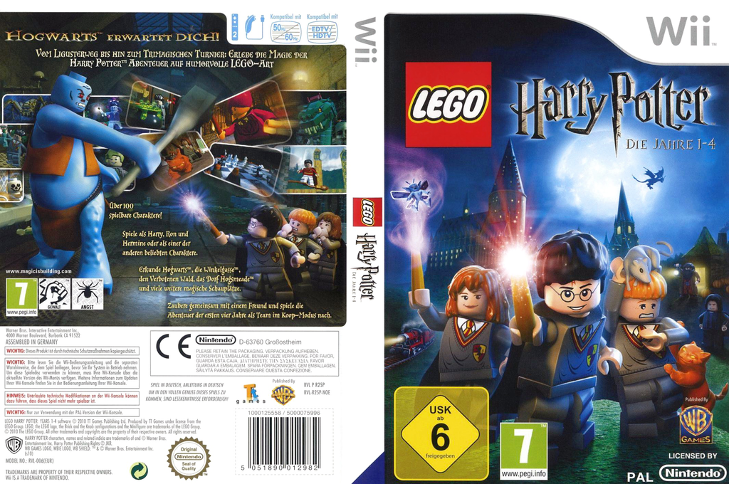 LEGO Harry Potter: Die Jahre 1-4 Wii coverfullHQ (R25PWR)