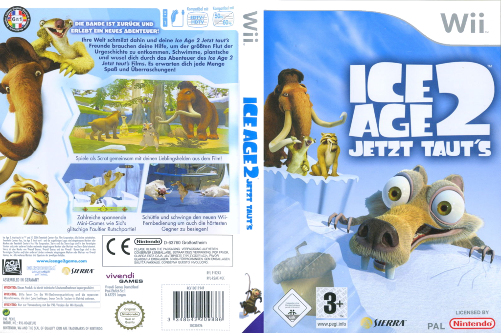 Ice Age 2 - Jetzt taut's Wii coverfullHQ (R2AX7D)