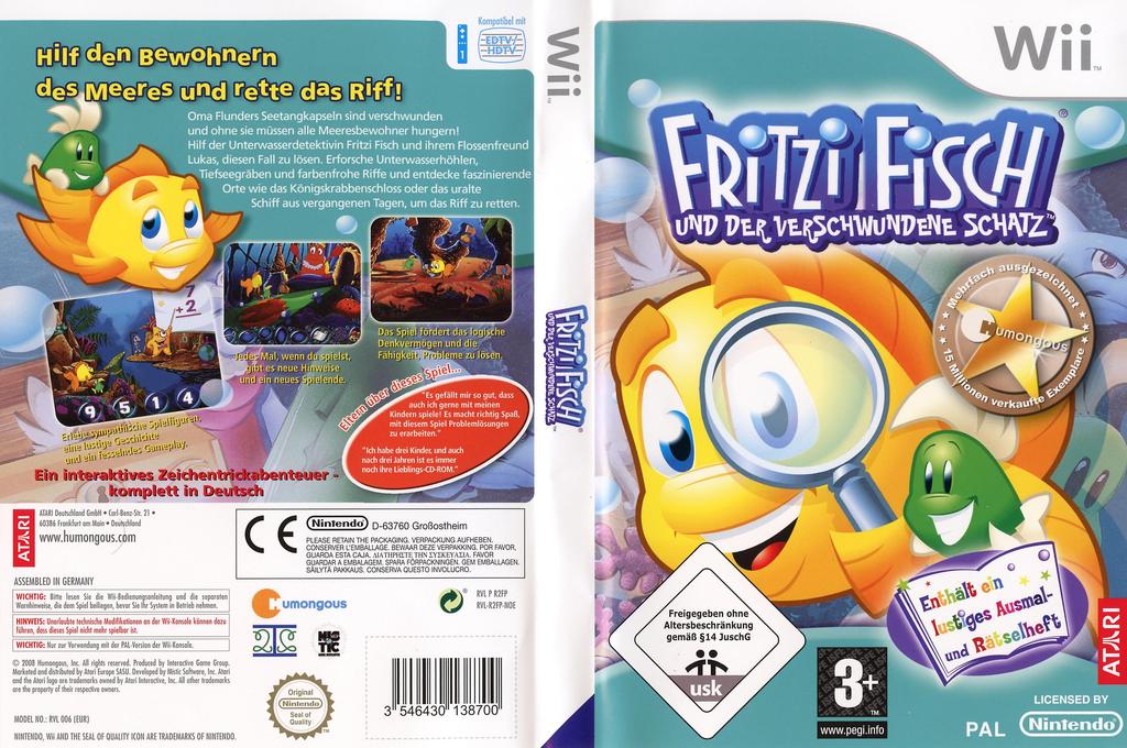 Fritzi Fisch und der verschwundene Schatz Wii coverfullHQ (R2FP70)