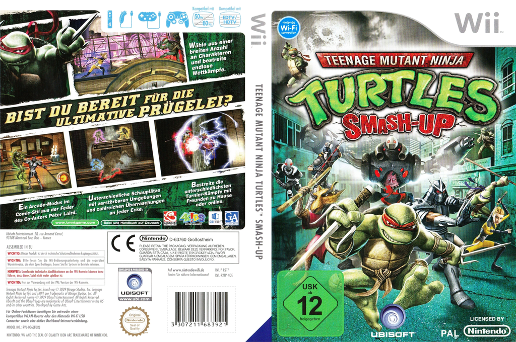 Teenage Mutant Ninja Turtles: Smash-Up Wii coverfullHQ (R2TP41)