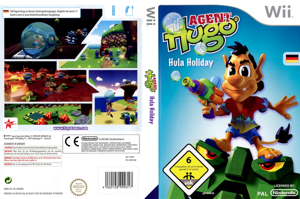 Agent Hugo: Hula Holiday Wii coverfullHQ (R3HP6Z)