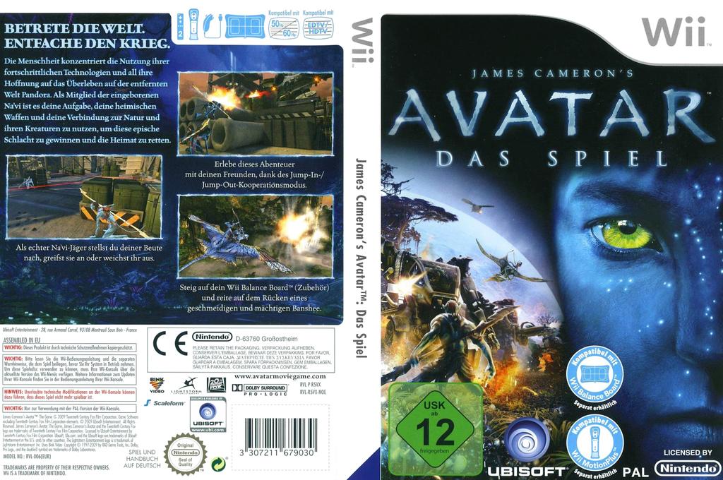 James Cameron's Avatar: Das Spiel Wii coverfullHQ (R5VP41)
