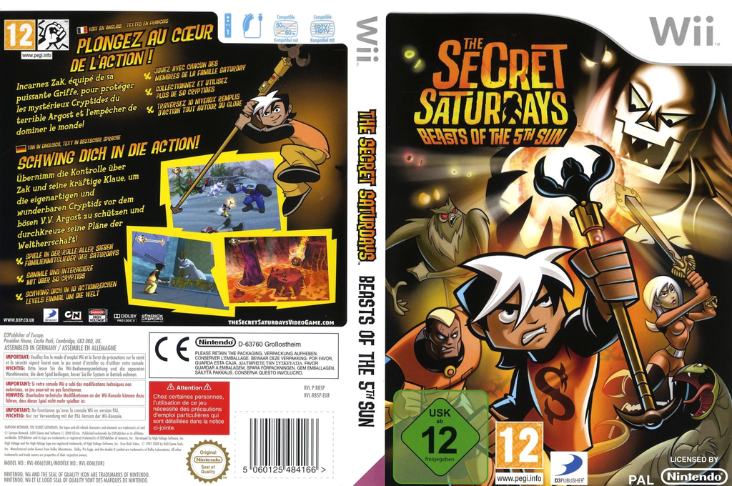 The Secret Saturdays: Beasts of the 5th Sun Wii coverfullHQ (R85PG9)