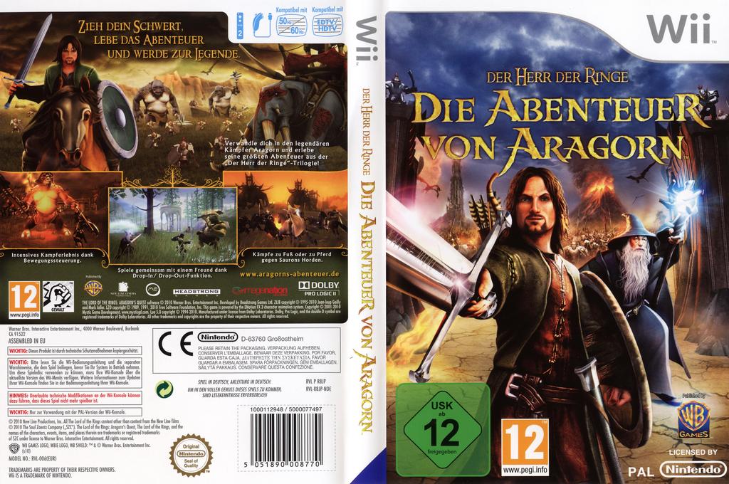 Der Herr der Ringe:Die Abenteuer von Aragorn Wii coverfullHQ (R8JPWR)
