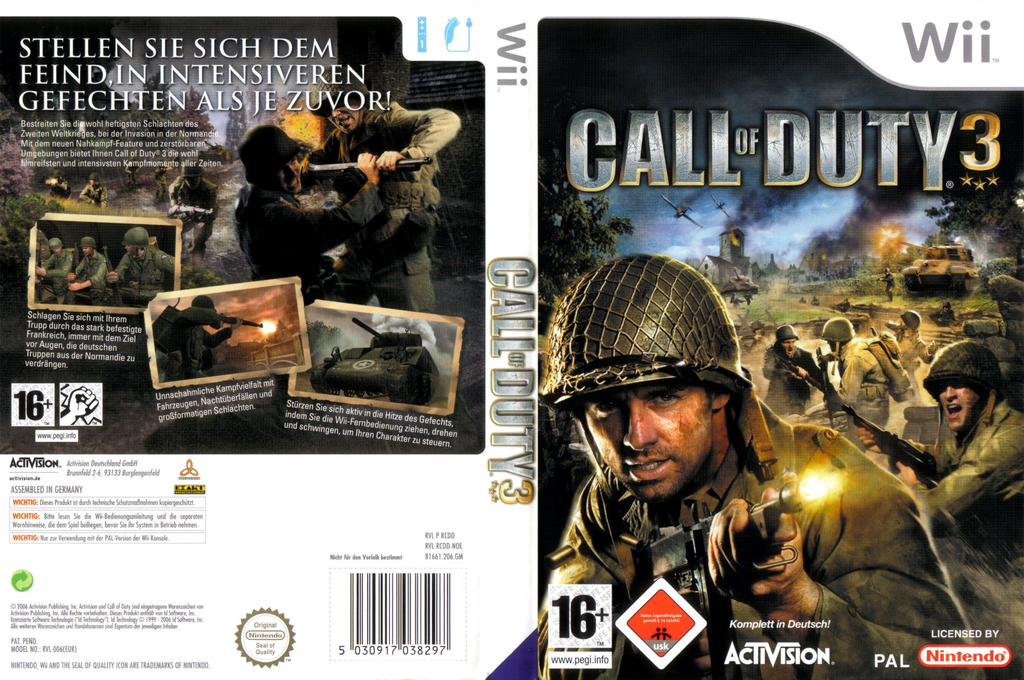 Call of Duty 3 Wii coverfullHQ (RCDP52)