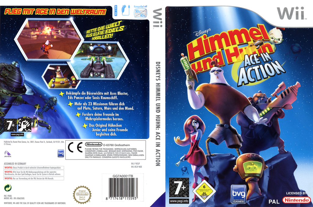 Himmel und Huhn: Ace in Action Wii coverfullHQ (RCLP4Q)