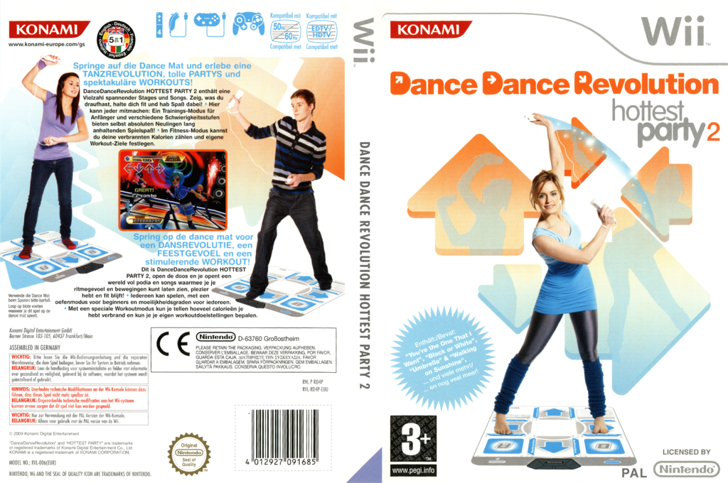 Dance Dance Revolution: Hottest Party 2 Wii coverfullHQ (RD4PA4)