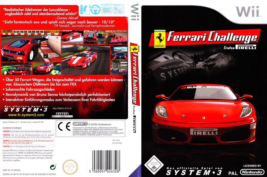 Ferrari Challenge: Trofeo Pirelli Wii coverfullHQ (RF3P6M)