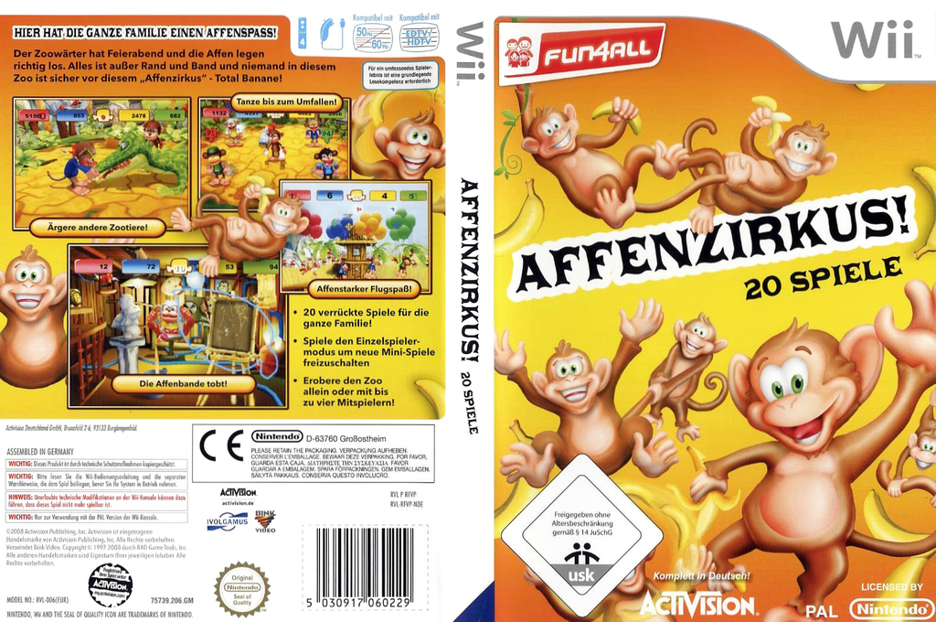 Affenzirkus! 20 Spiele Wii coverfullHQ (RFVP52)