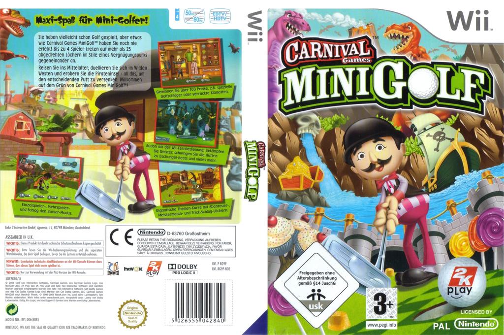 Carnival Games: Mini Golf Wii coverfullHQ (RG9P54)