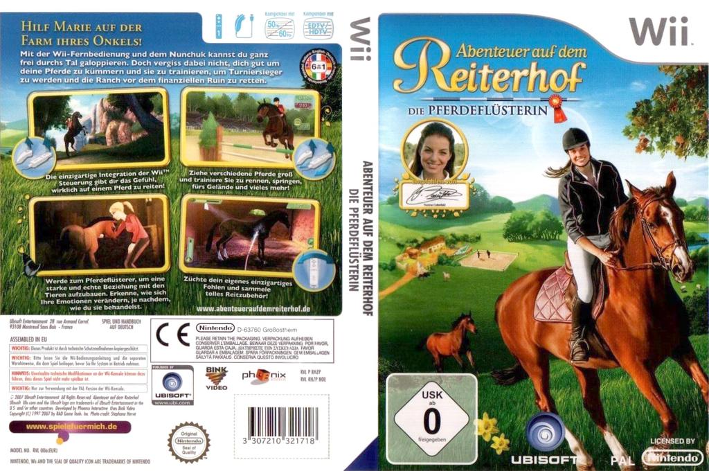 Abenteuer auf dem Reiterhof: Die Pferdeflüsterin Wii coverfullHQ (RHZP41)